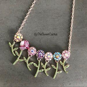 Betsey Johnson Fruity Petals Flower Bunch Necklace